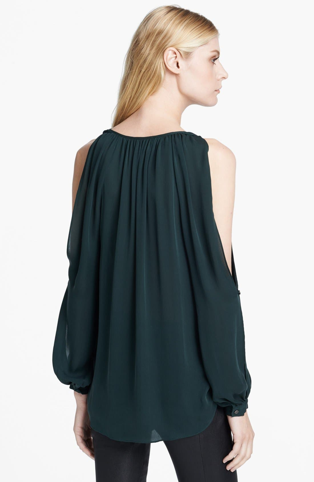 Alternate Image 2  - Haute Hippie Cowl Neck Cold Shoulder Blouse