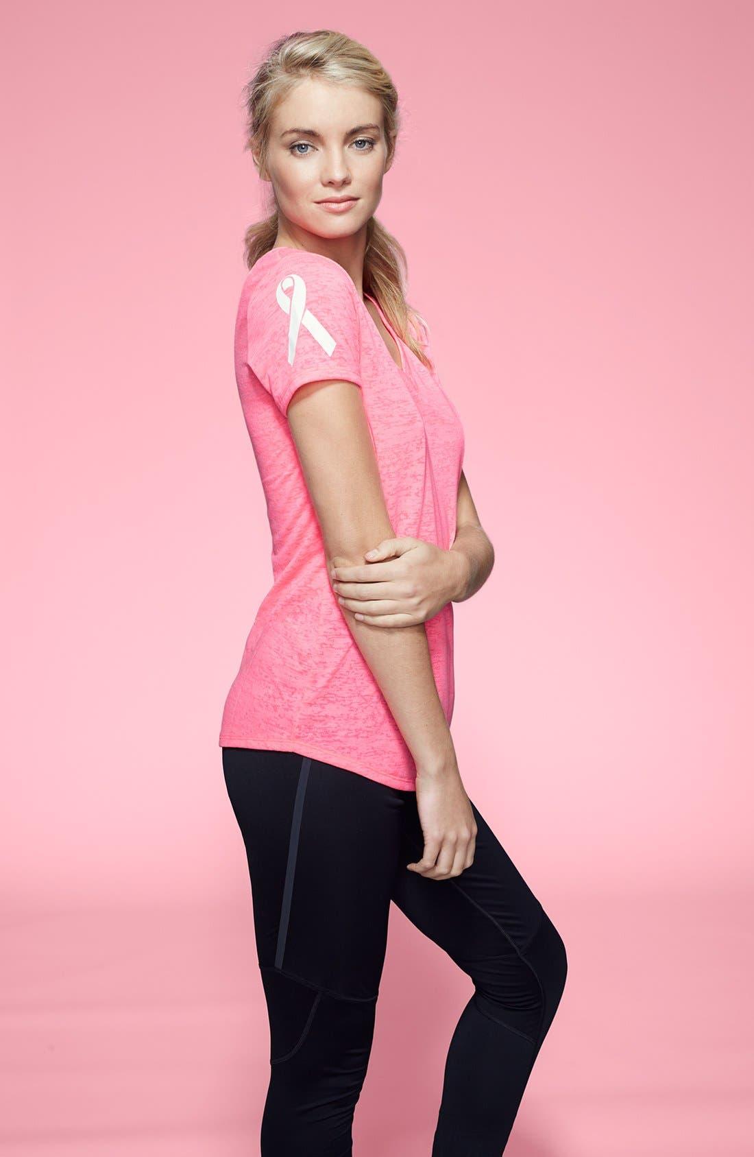 Alternate Image 4  - Under Armour 'Power in Pink Achieve' Tee