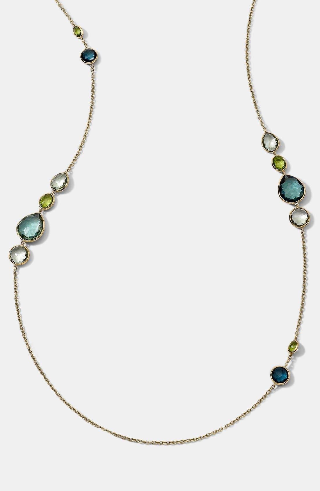 Main Image - Ippolita 'Rock Candy - Gelato' 18k Gold Long Station Necklace