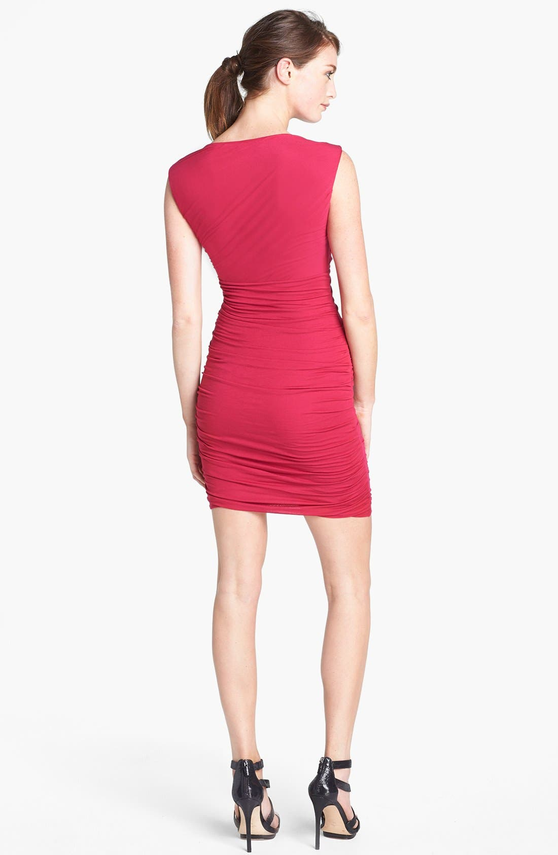 Alternate Image 2  - Diane von Furstenberg 'Angelina' Ruched Knit Sleeveless Dress