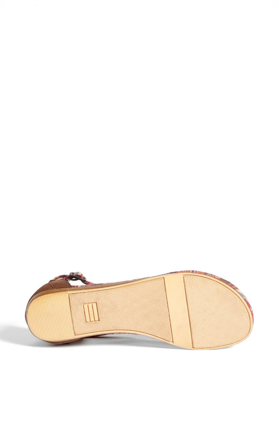 Alternate Image 4  - TOMS 'Playa' T-Strap Flat Sandal