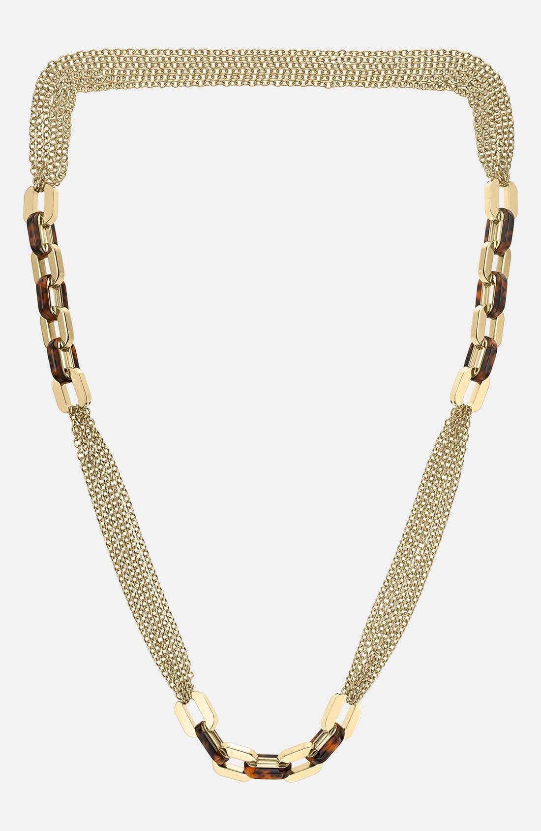Alternate Image 2  - Michael Kors 'Modernist Glitz' Long Multi Chain Necklace