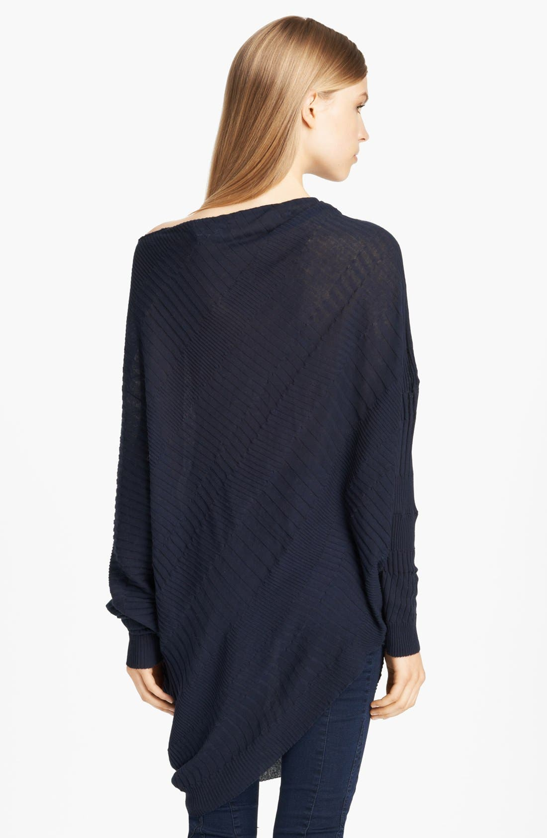 Alternate Image 2  - Donna Karan Casual Luxe Twisted Asymmetrical Sweater