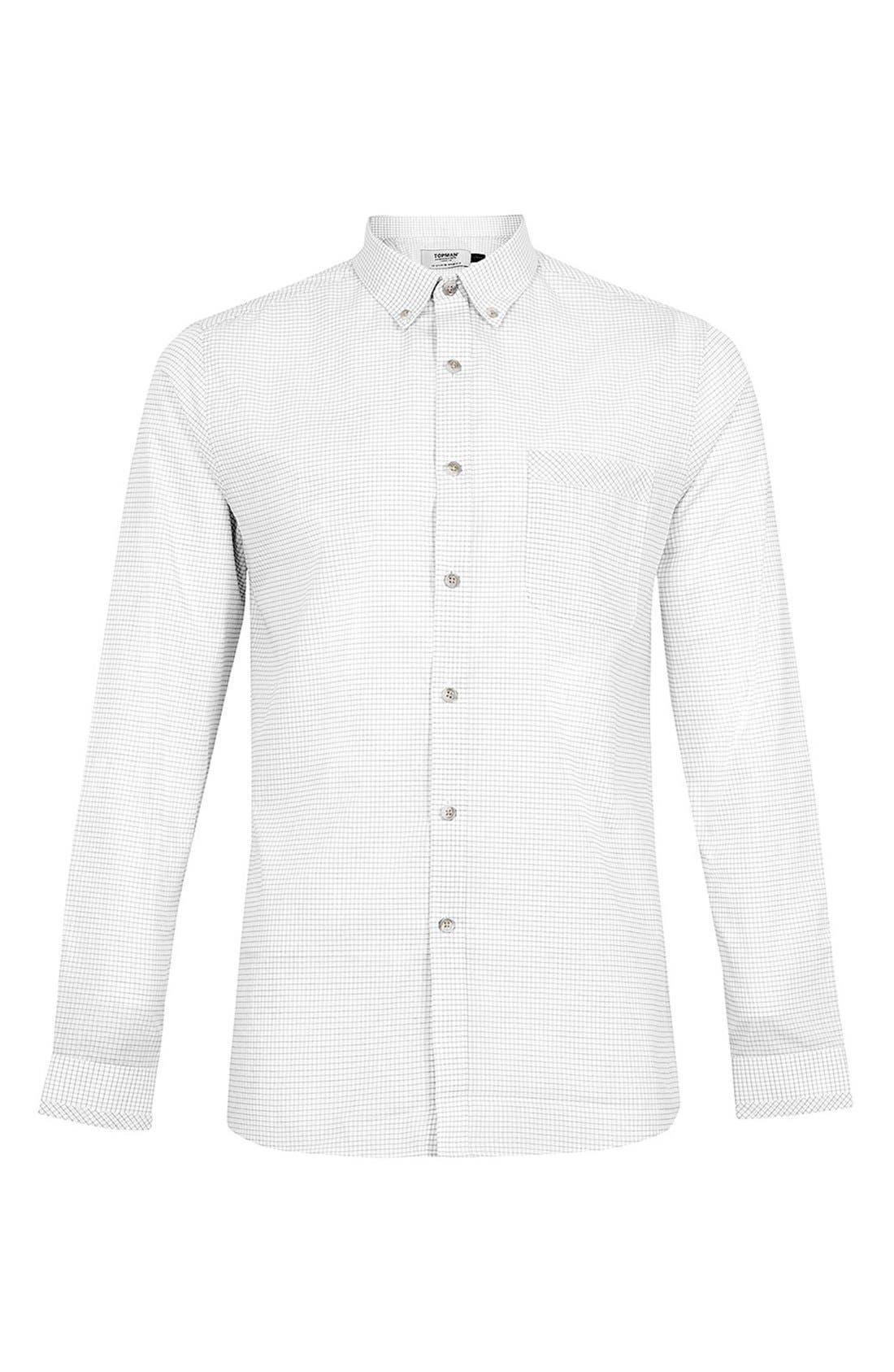 Alternate Image 1 Selected - Topman Check Sport Shirt