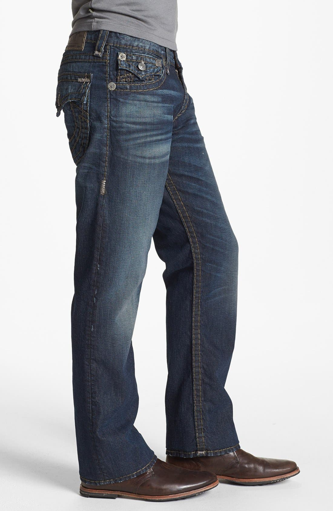 Alternate Image 3  - True Religion Brand Jeans 'Ricky - Super T' Straight Leg Jeans (Asjd Breaking Grounds)