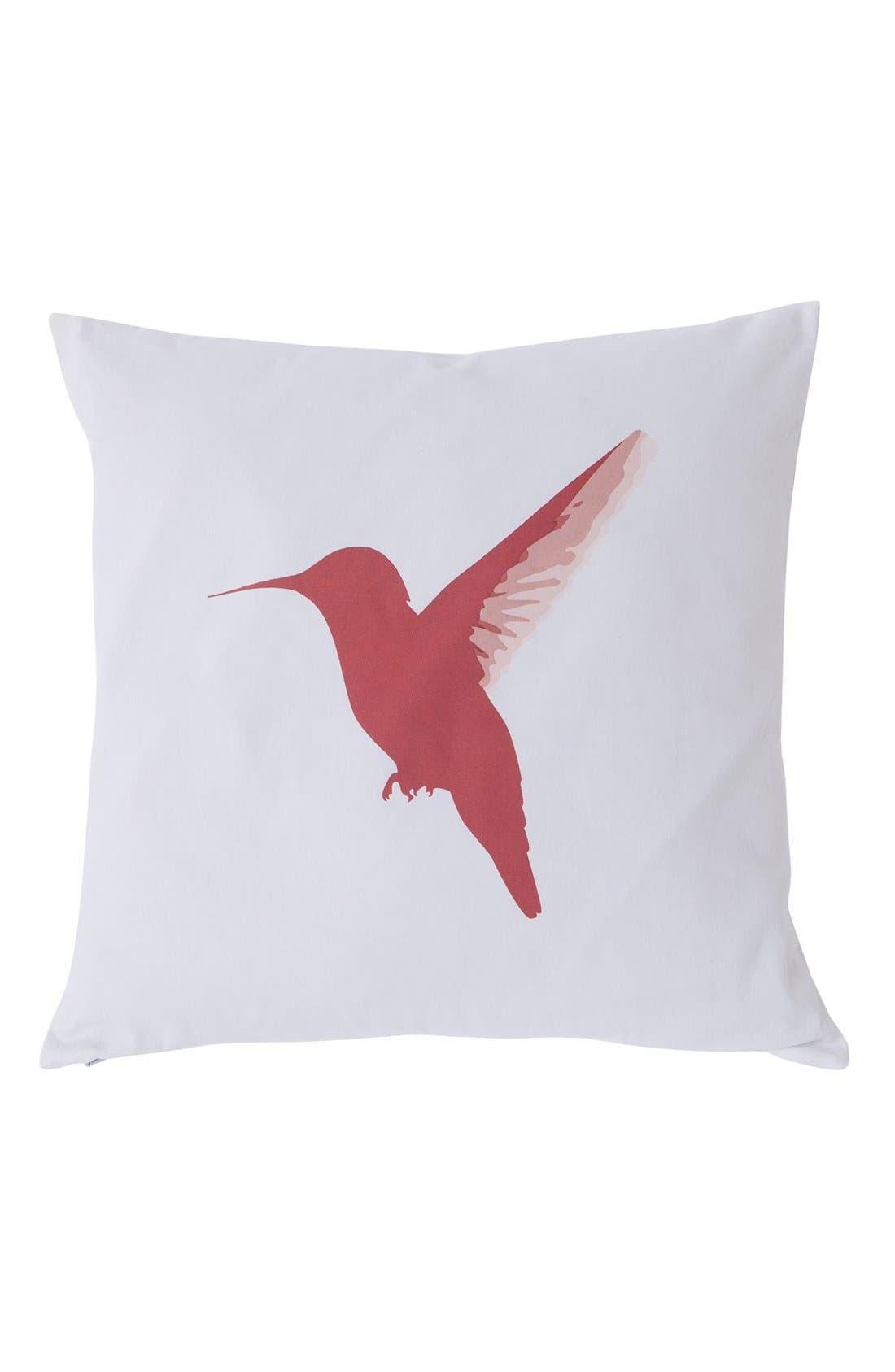 Alternate Image 2  - kensie Reversible Hummingbird Pillow