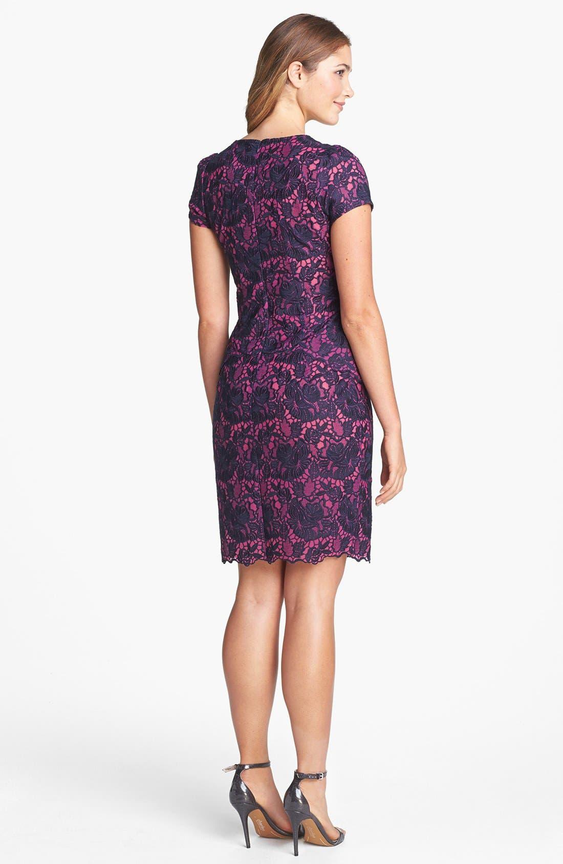 Alternate Image 2  - Felicity & Coco Lace Peplum Sheath Dress (Regular & Petite) (Nordstrom Exclusive)