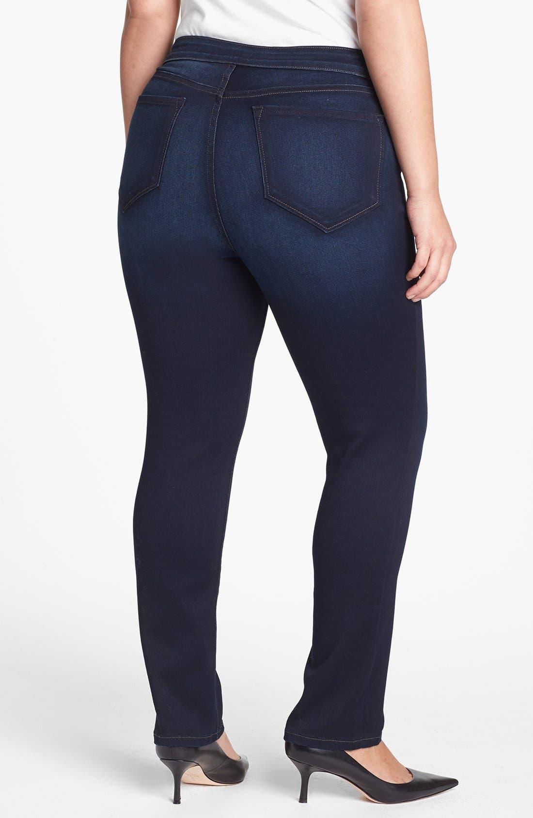 Alternate Image 2  - NYDJ 'Jaclyn' Stretch Skinny Jeans (Pasadena) (Plus Size)