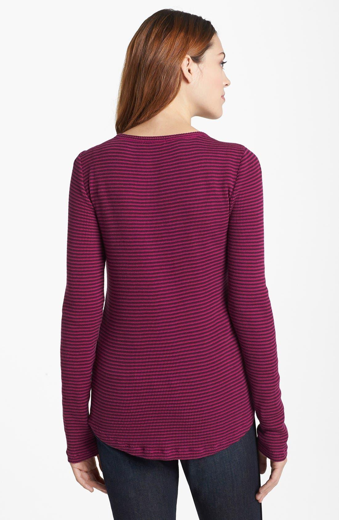 Alternate Image 2  - Lucky Brand 'Carina' Stripe Thermal Knit Tee
