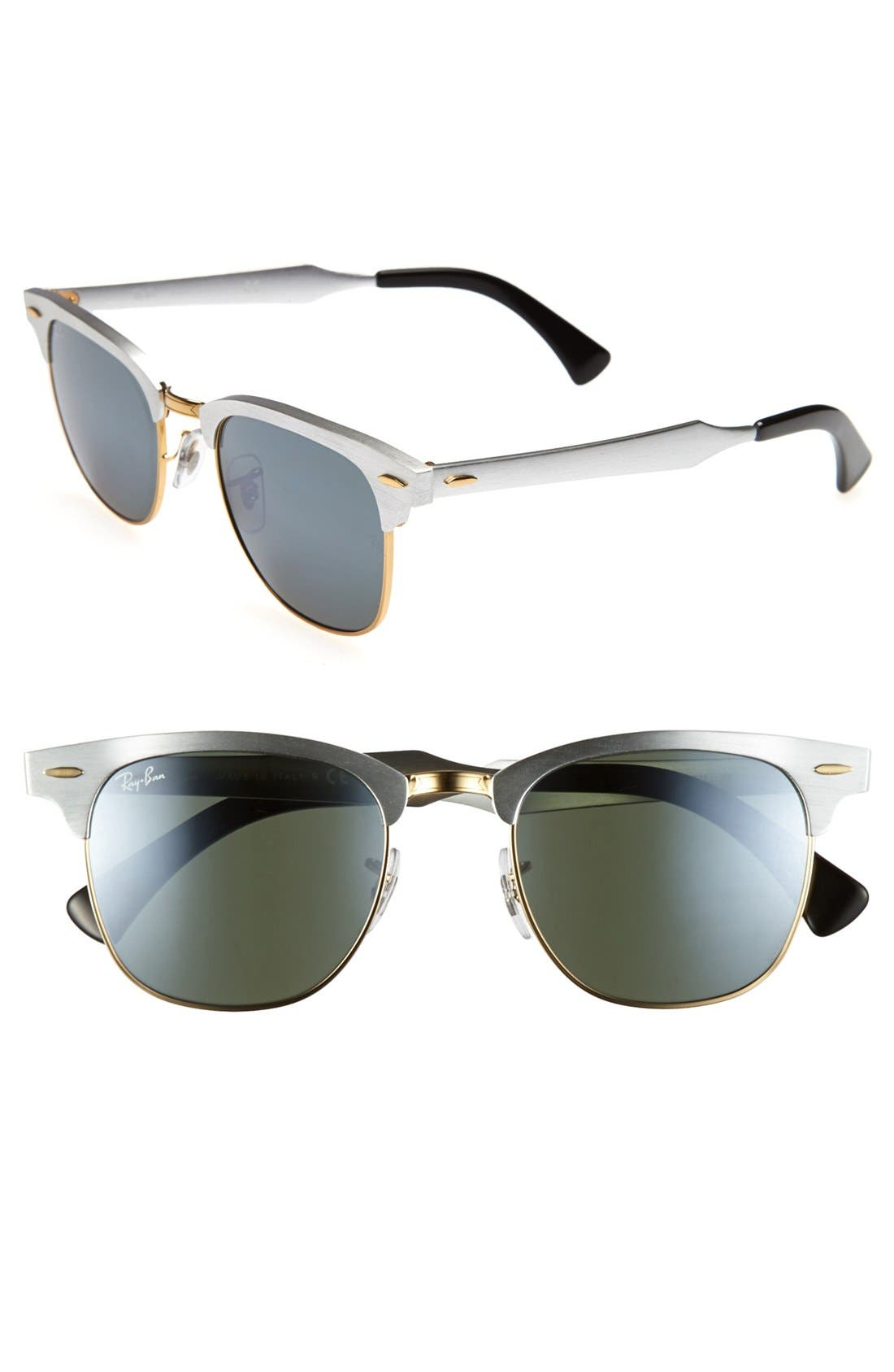 Alternate Image 1 Selected - Ray-Ban 'Clubmaster' 51mm Sunglasses