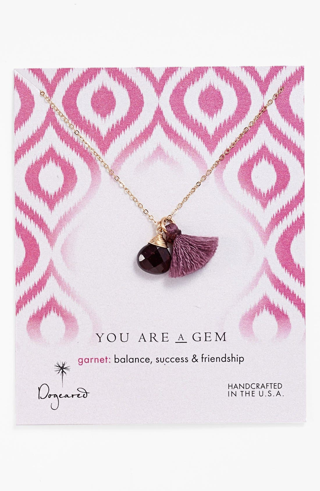 Main Image - Dogeared 'You are a Gem' Boxed Cluster Pendant Necklace