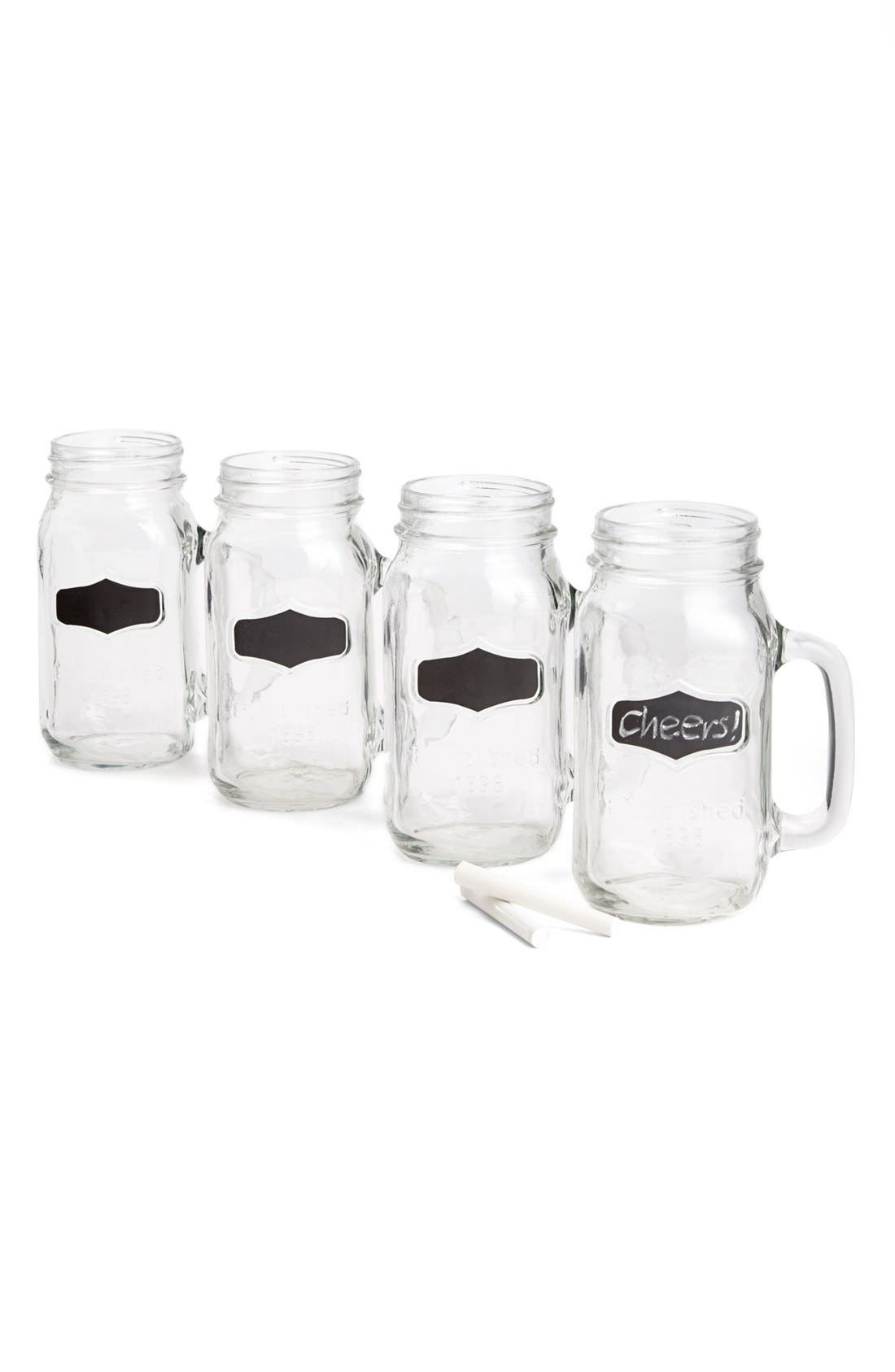 Main Image - Circle Glass 'Yorkshire' Mason Jar Mugs (Set of 4)