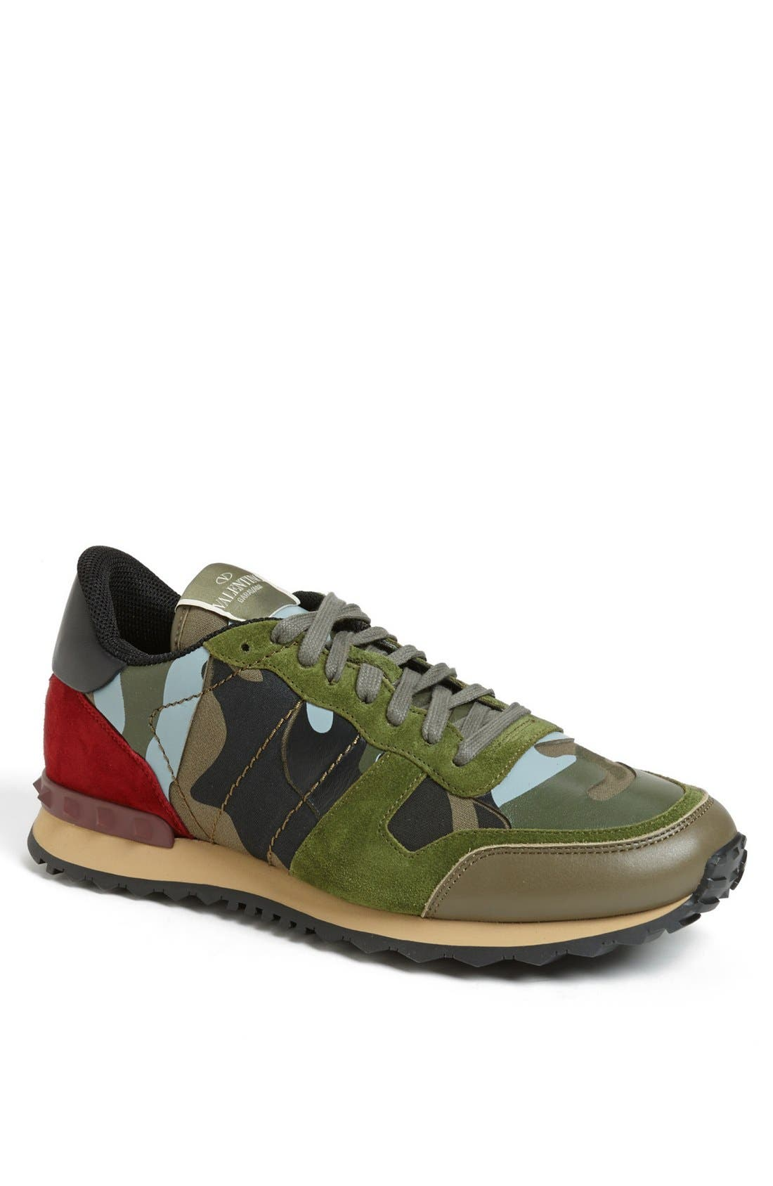 Camouflage Sneaker,                             Main thumbnail 1, color,                             Army Green