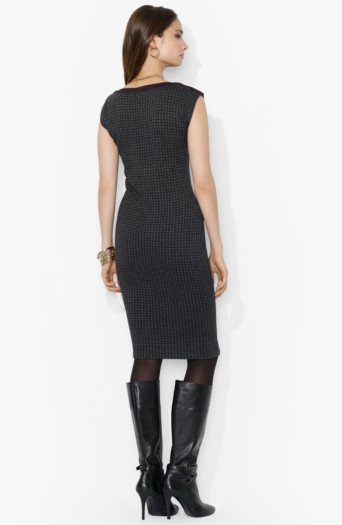 Alternate Image 2  - Lauren Ralph Lauren Houndstooth Boatneck Dress