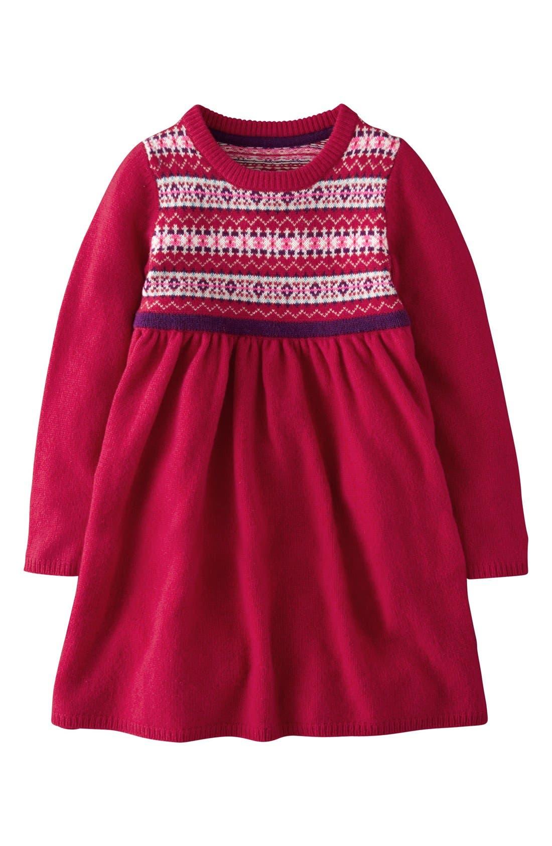 Mini Boden Fair Isle Knit Dress (Toddler Girls) | Nordstrom