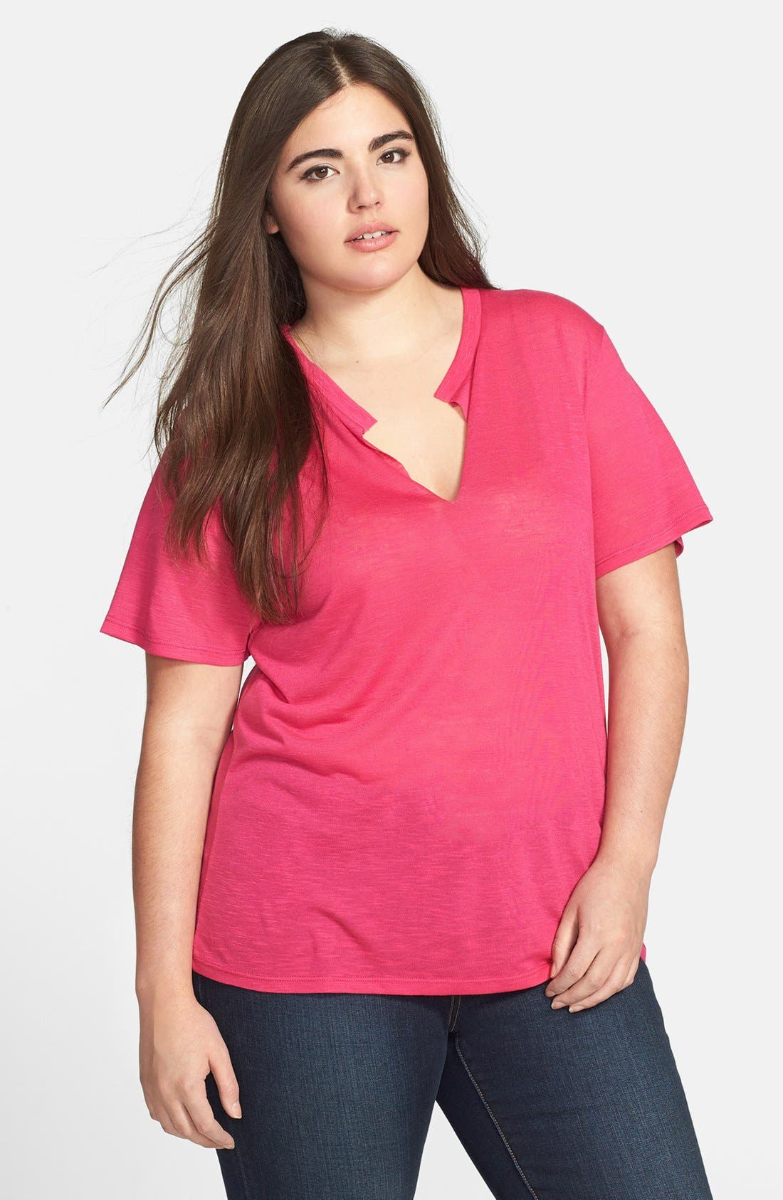 Alternate Image 1 Selected - Nation LTD 'Robin' Tee (Plus Size)