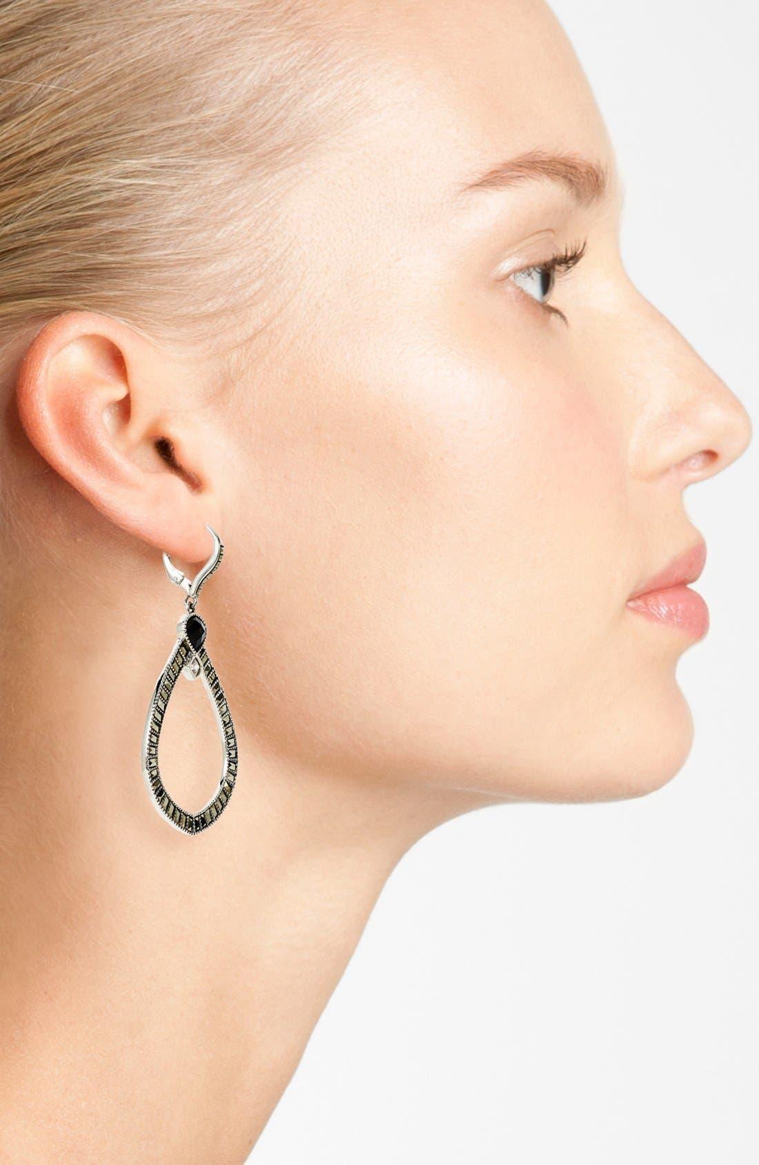Alternate Image 2  - Judith Jack 'Flamenco' Open Drop Earrings