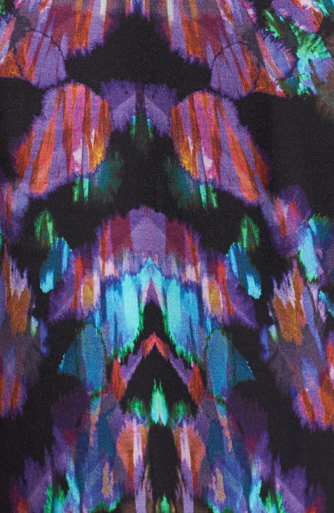 Alternate Image 3  - Nicole Miller 'Aurora' Print Jersey Peplum Dress