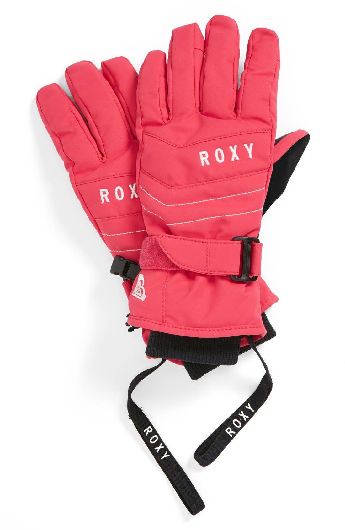 Main Image - Roxy 'Mouna' Gloves (Big Girls)
