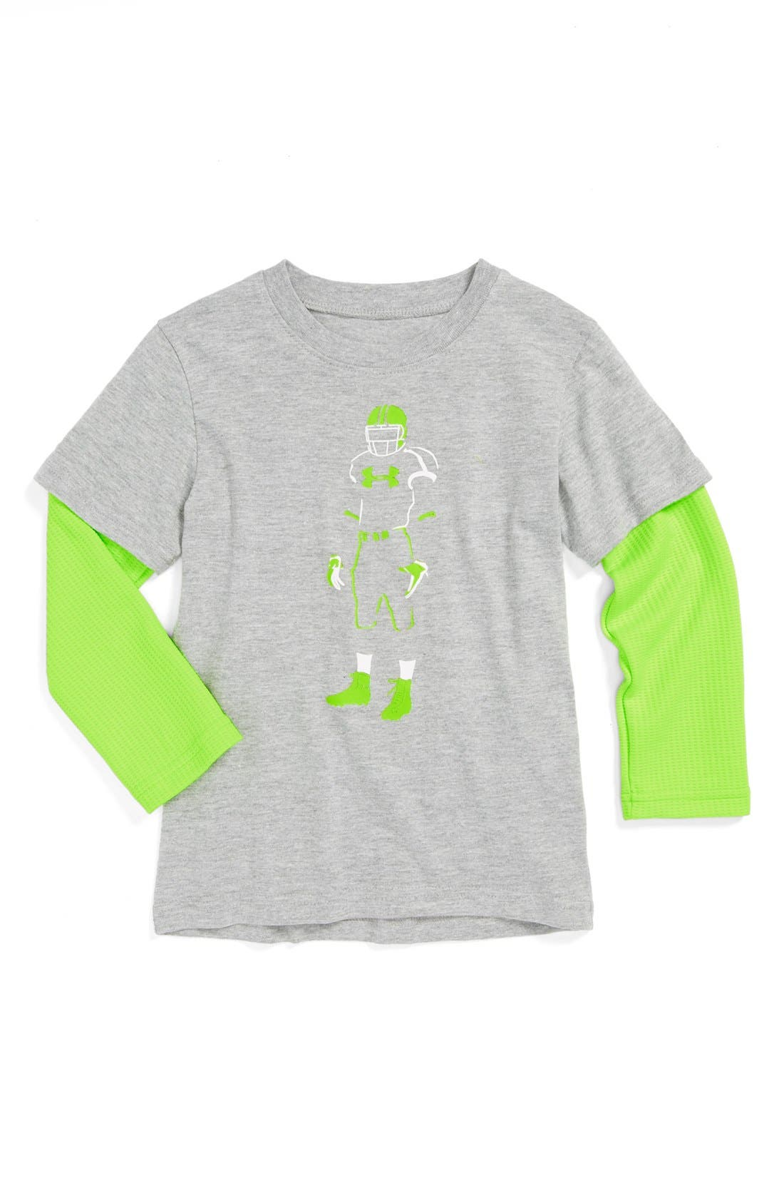 Alternate Image 1 Selected - Under Armour 'Football Glow Slider' AllSeasonGear® T-Shirt (Toddler Boys)