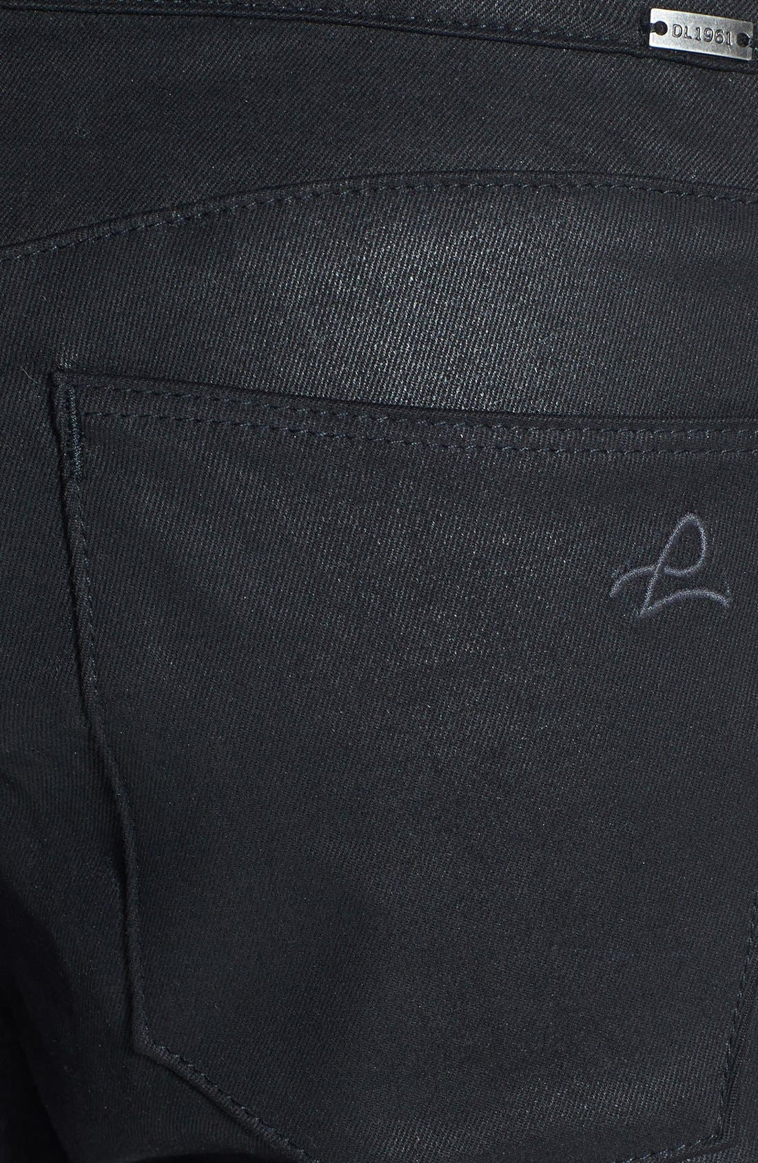 Alternate Image 3  - DL1961 'Ava' Coated Slouchy Jeans (Wick)
