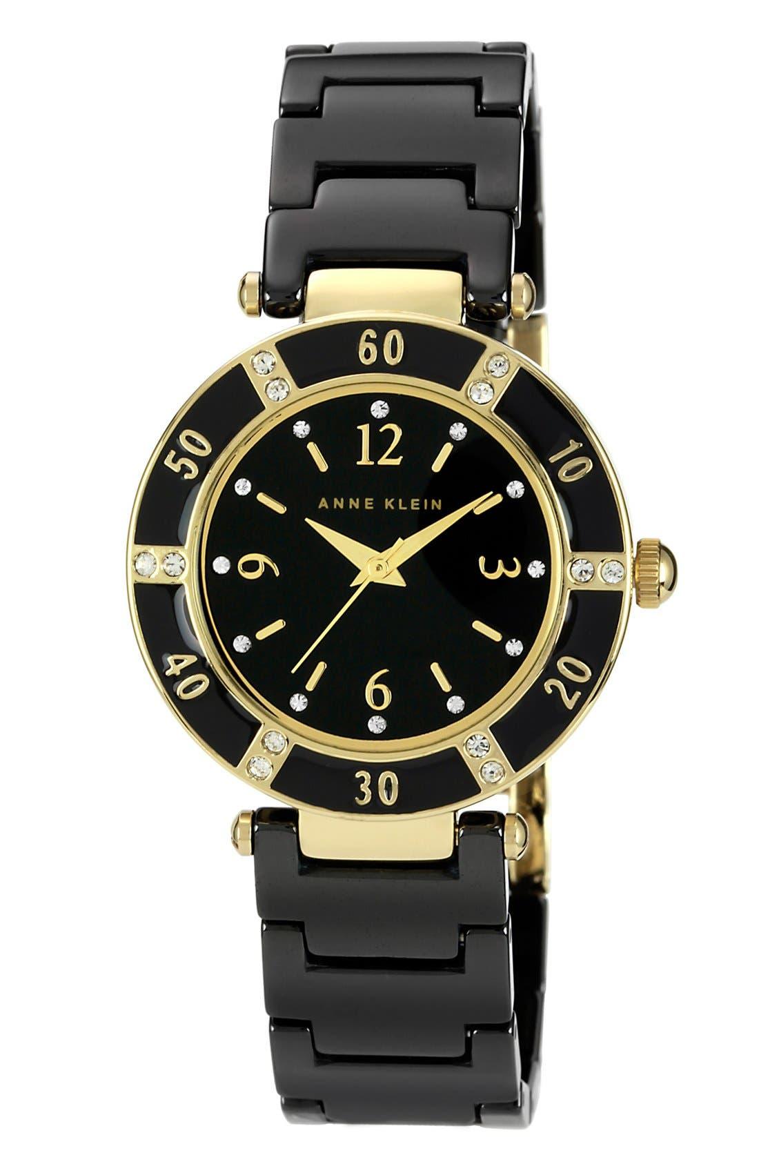 Alternate Image 1 Selected - Anne Klein Round Ceramic Bracelet Watch, 31mm