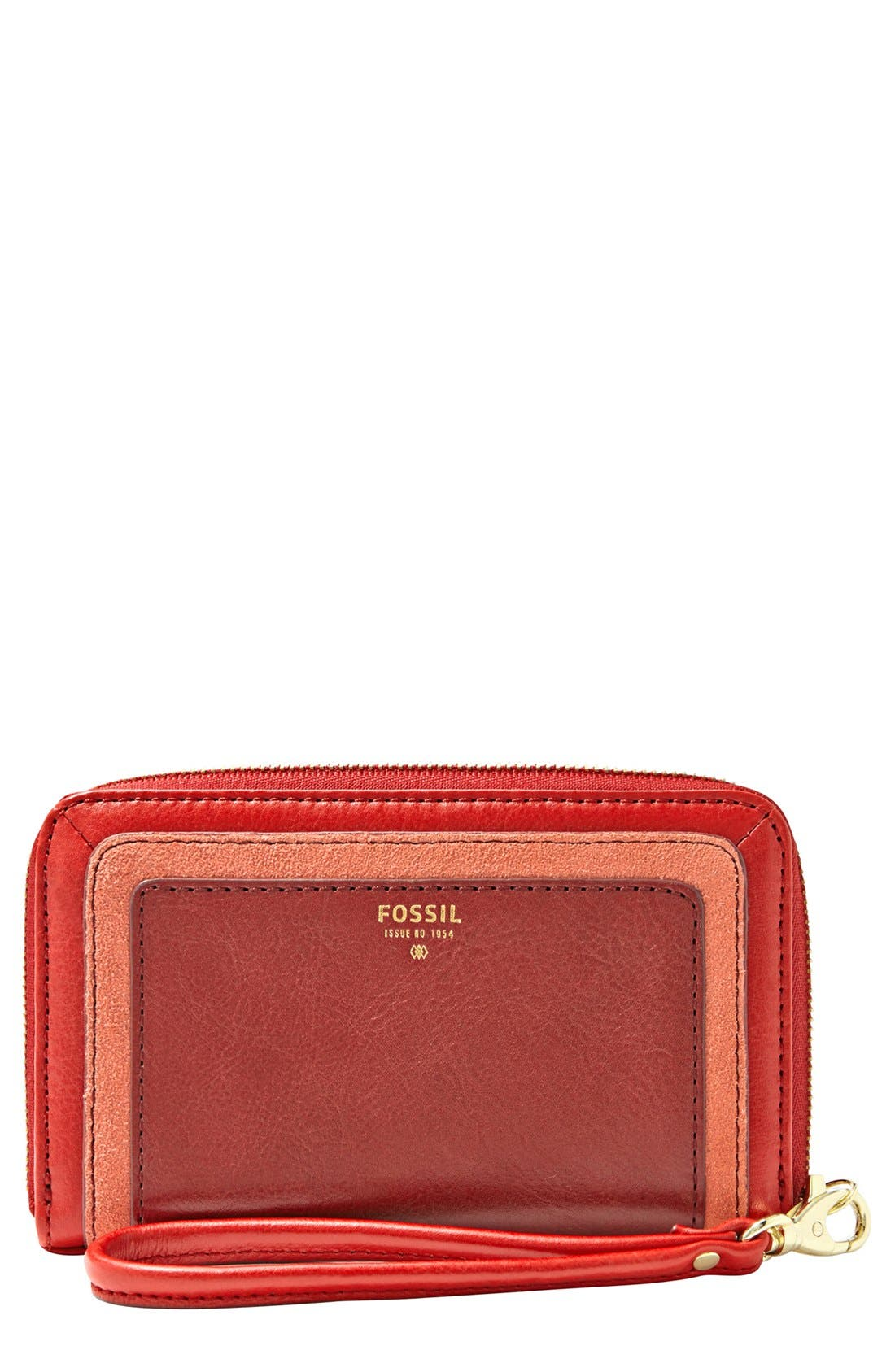 Main Image - Fossil 'Sydney' Zip Phone Wallet
