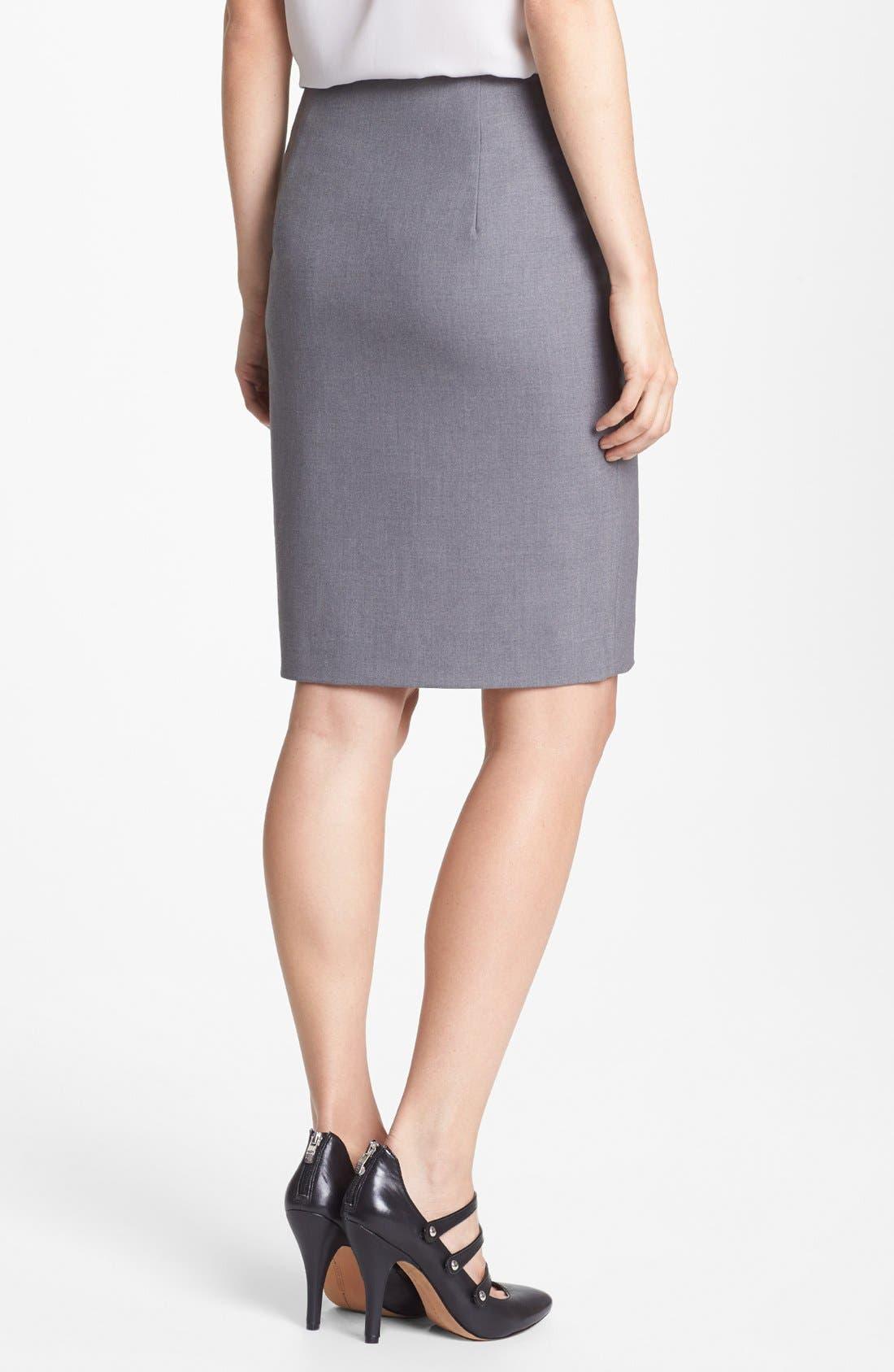 Alternate Image 2  - Vince Camuto Asymmetrical Zip Skirt