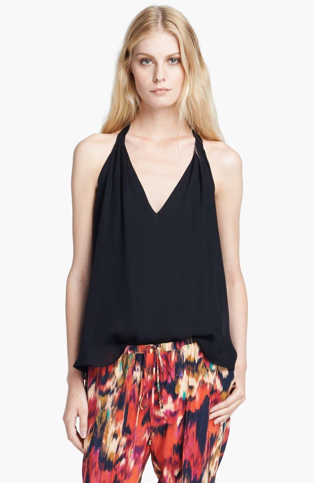 Alternate Image 1 Selected - Haute Hippie Silk Halter Top