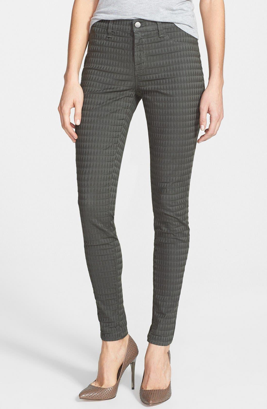 Main Image - J Brand Jacquard Skinny Jeans (Mica)