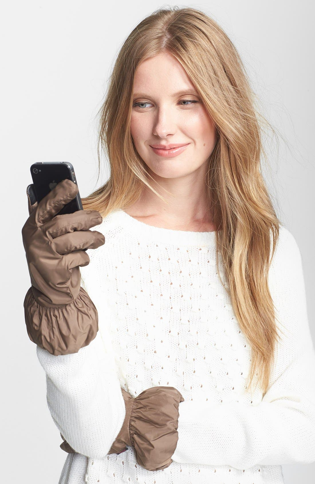 Main Image - Echo 'Touch - Puffy Cuff' Gloves