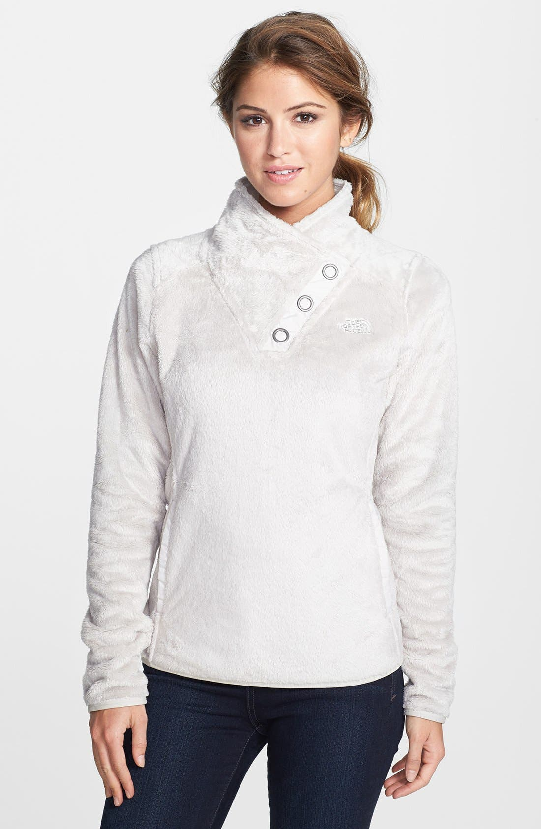 Main Image - The North Face 'Mossbud' Snap Neck Pullover (Nordstrom Exclusive)