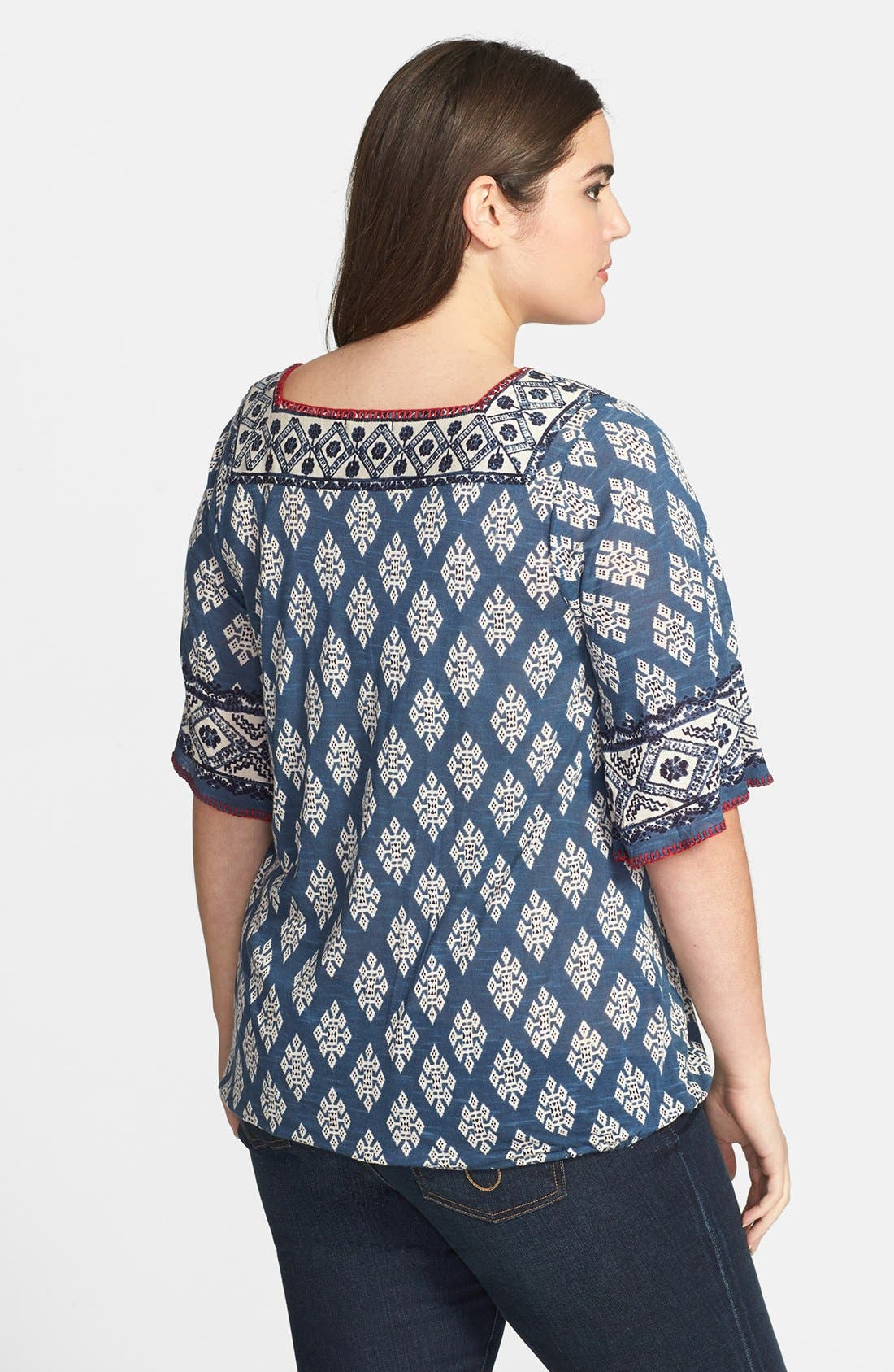 Alternate Image 2  - Lucky Brand 'Portland Market' Top (Plus Size)