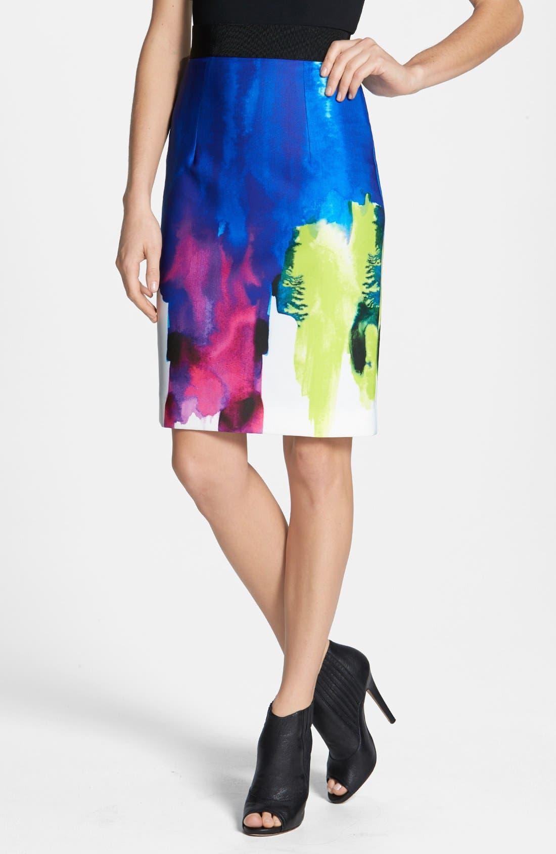 Main Image - Milly 'Italian Surf' Neoprene Pencil Skirt
