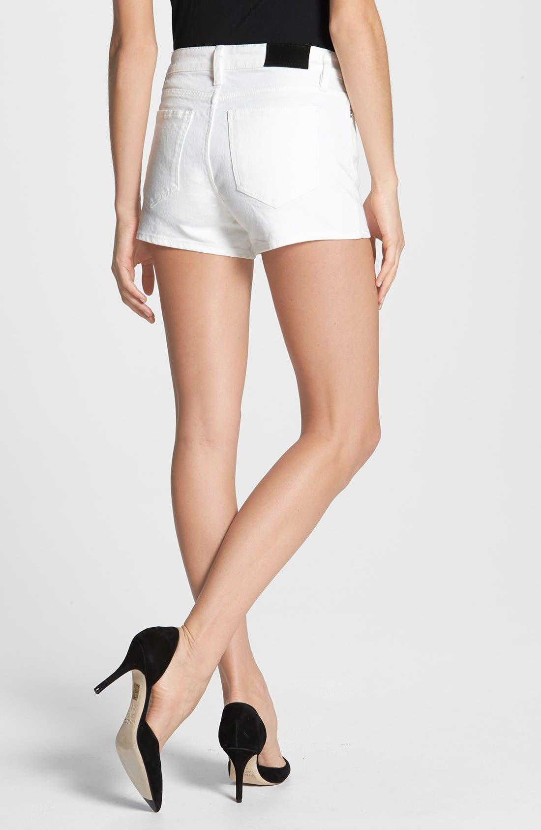 Alternate Image 2  - Theory 'Mikee' Denim Shorts (White)