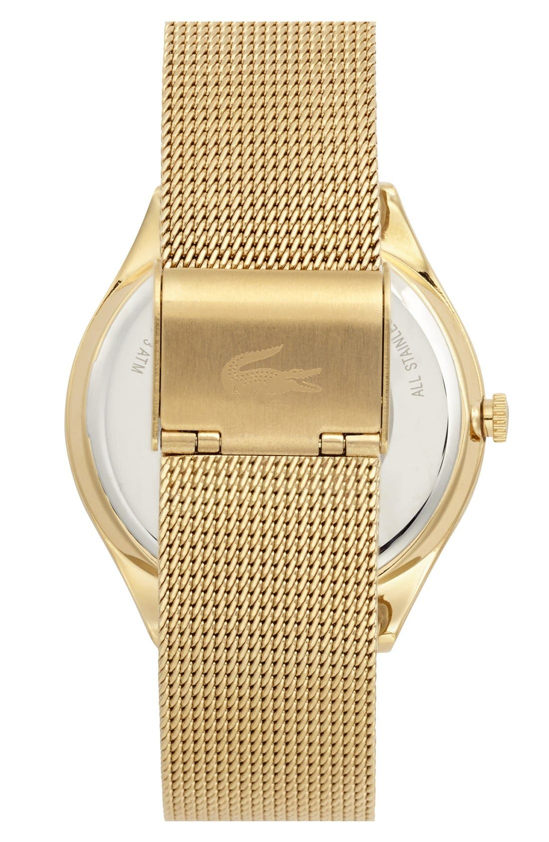 Alternate Image 2  - Lacoste 'Valencia' Logo Dial Mesh Strap Watch, 38mm