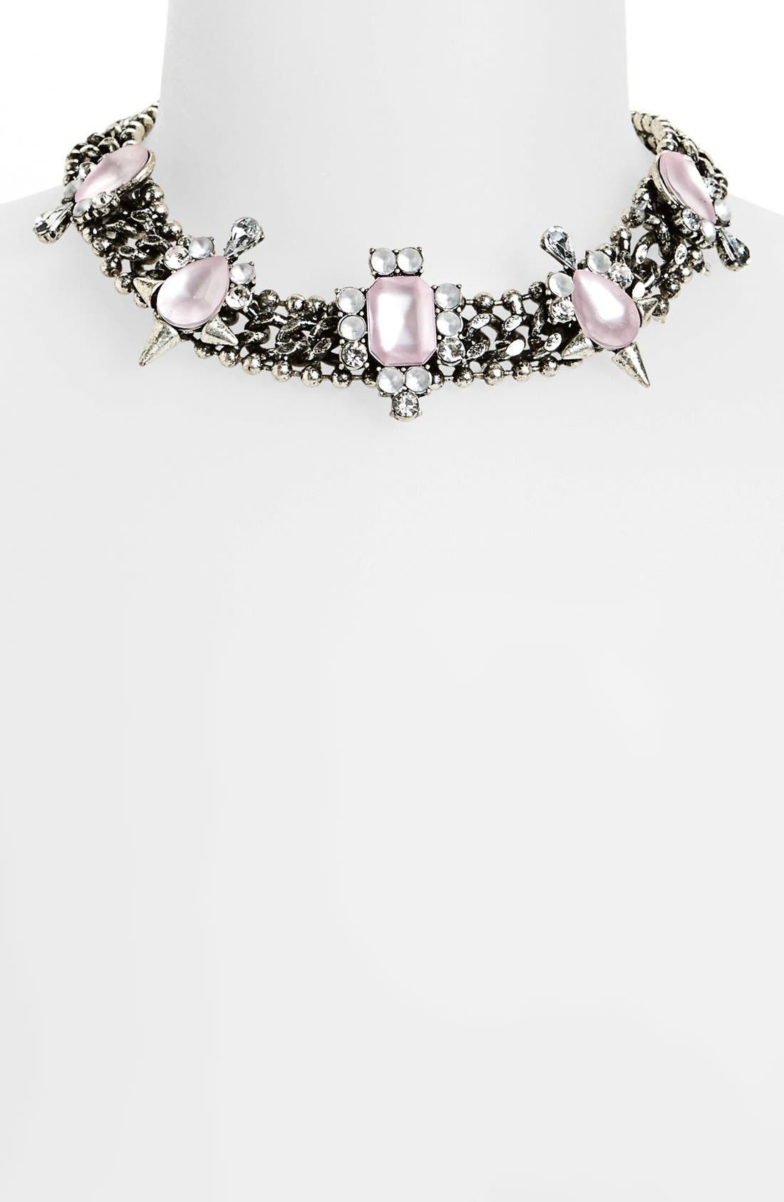 Main Image - Topshop Embellished Collar Necklace