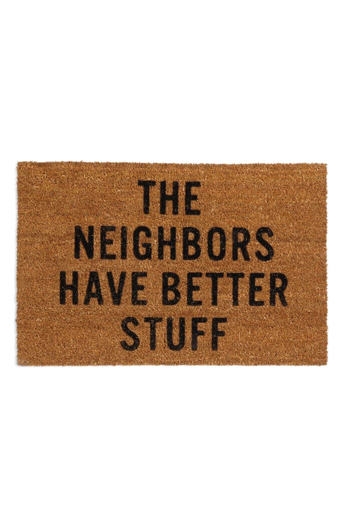 Neighbors Doormat,                         Main,                         color, Brown