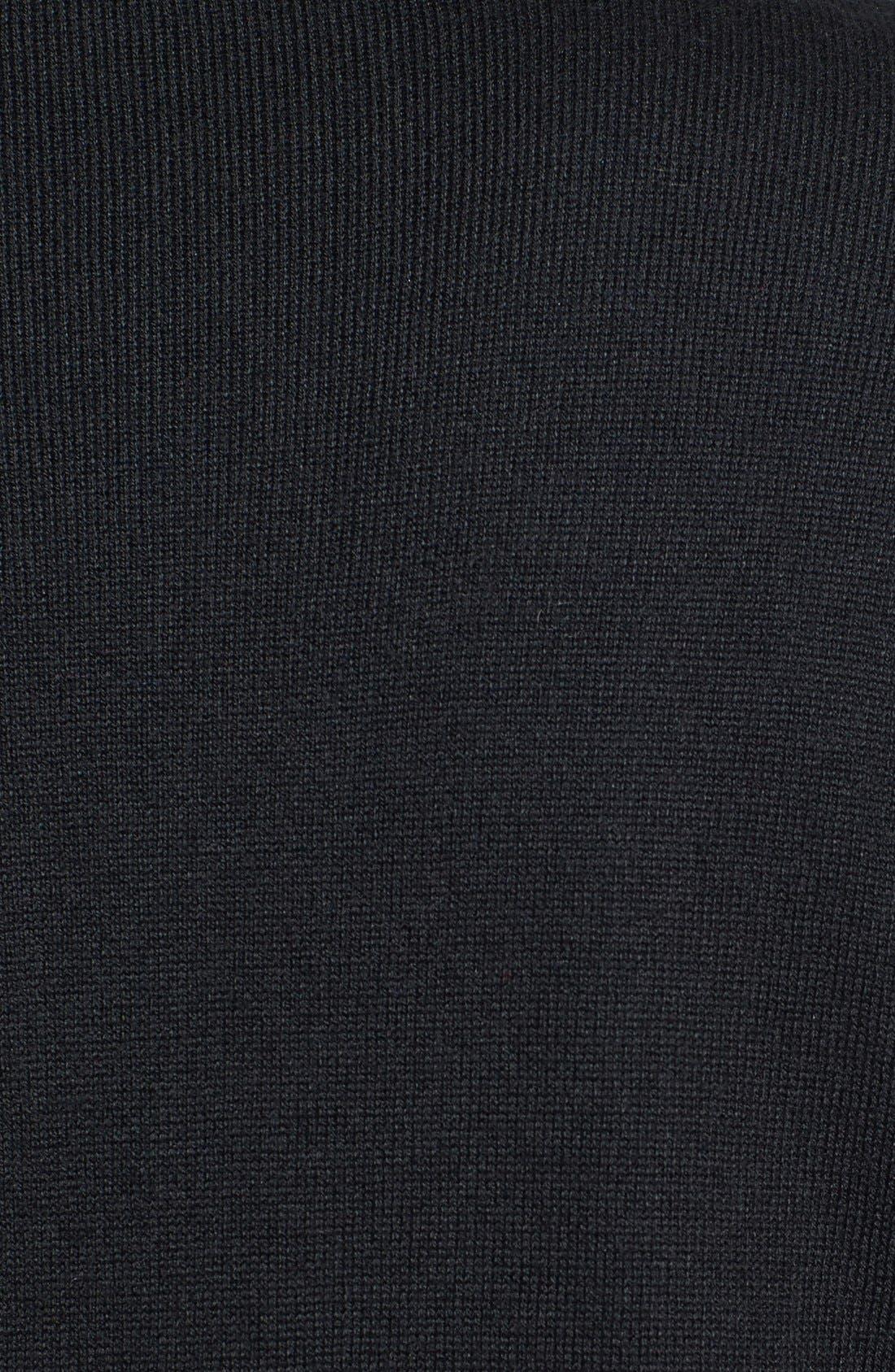 Dolman Sleeve Tunic Sweater,                             Alternate thumbnail 3, color,                             Rich Black