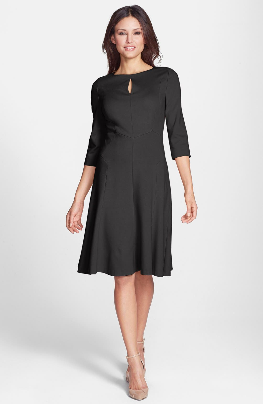 Alternate Image 1 Selected - Classiques Entier® Ponte Fit & Flare Dress