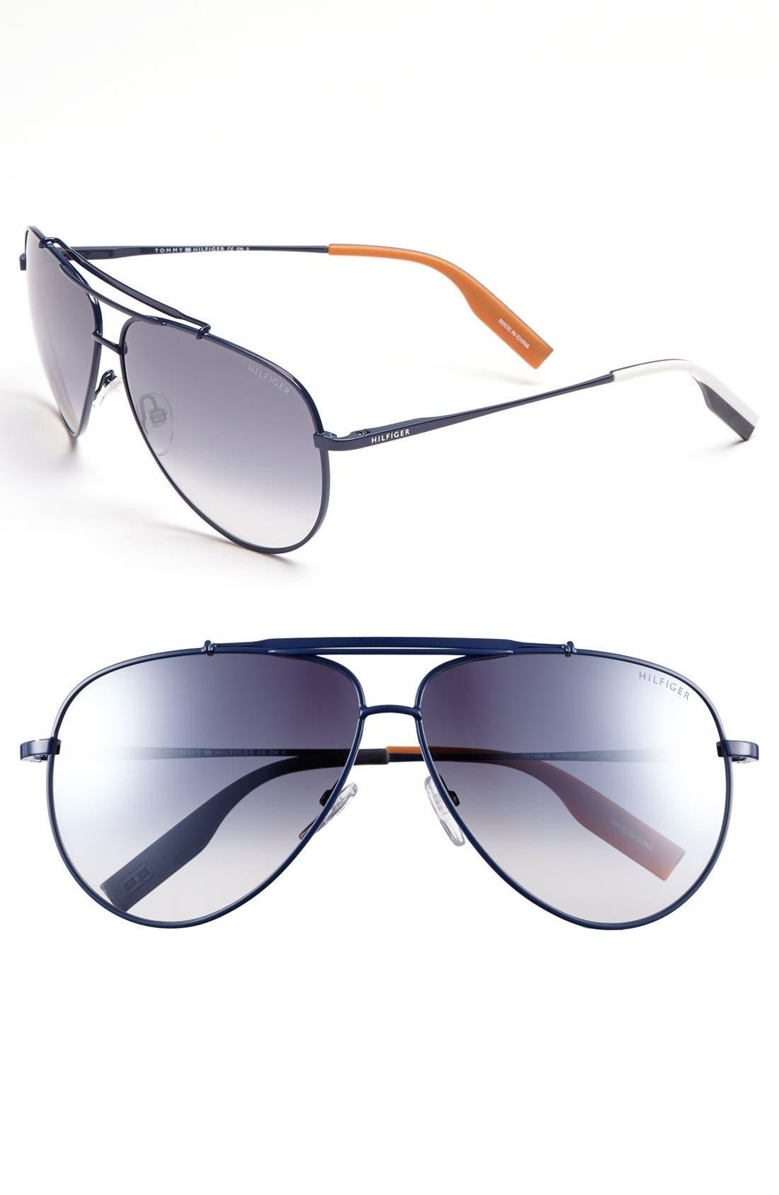 Alternate Image 1 Selected - Tommy Hilfiger 62mm Aviator Sunglasses
