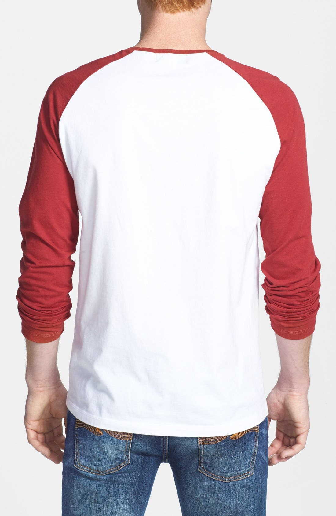Alternate Image 2  - Topman Contrast Raglan Long-Sleeve T-Shirt
