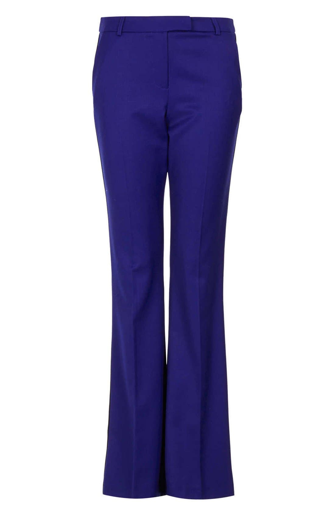 Alternate Image 3  - Topshop Piped Flare Leg Trousers