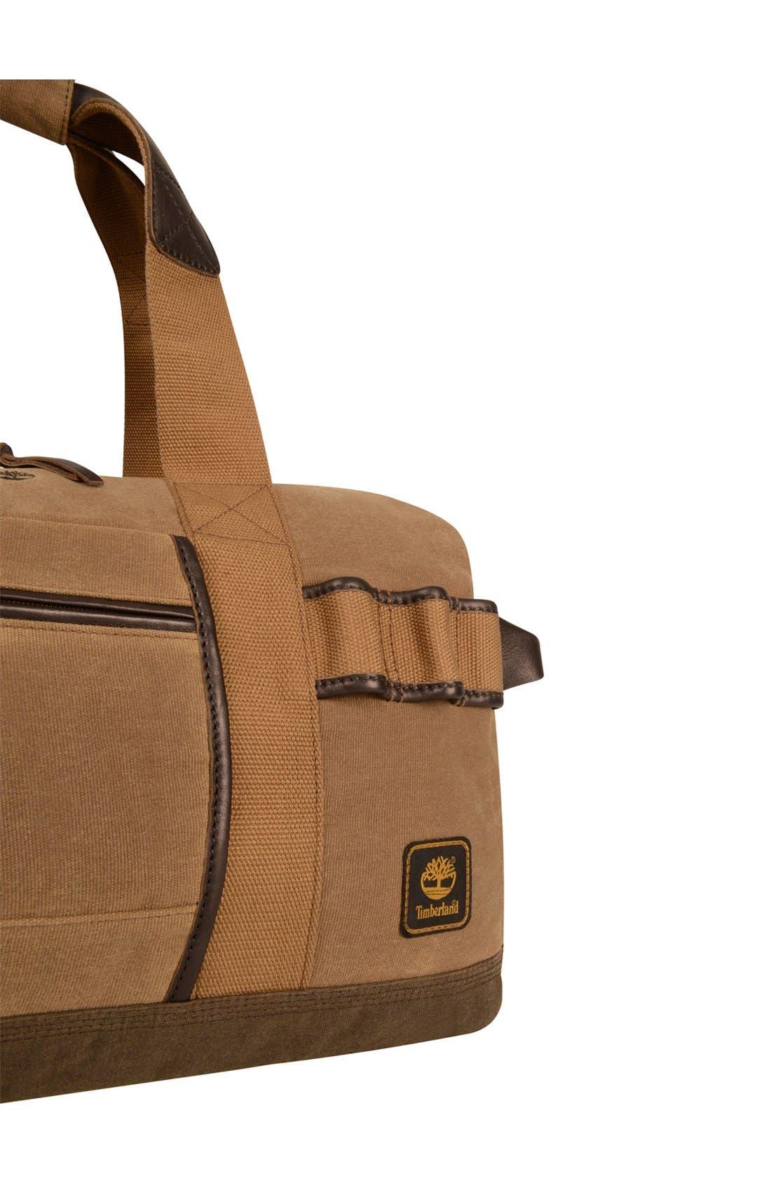'Madison' Duffel Bag,                             Alternate thumbnail 4, color,                             Tan/ Brown