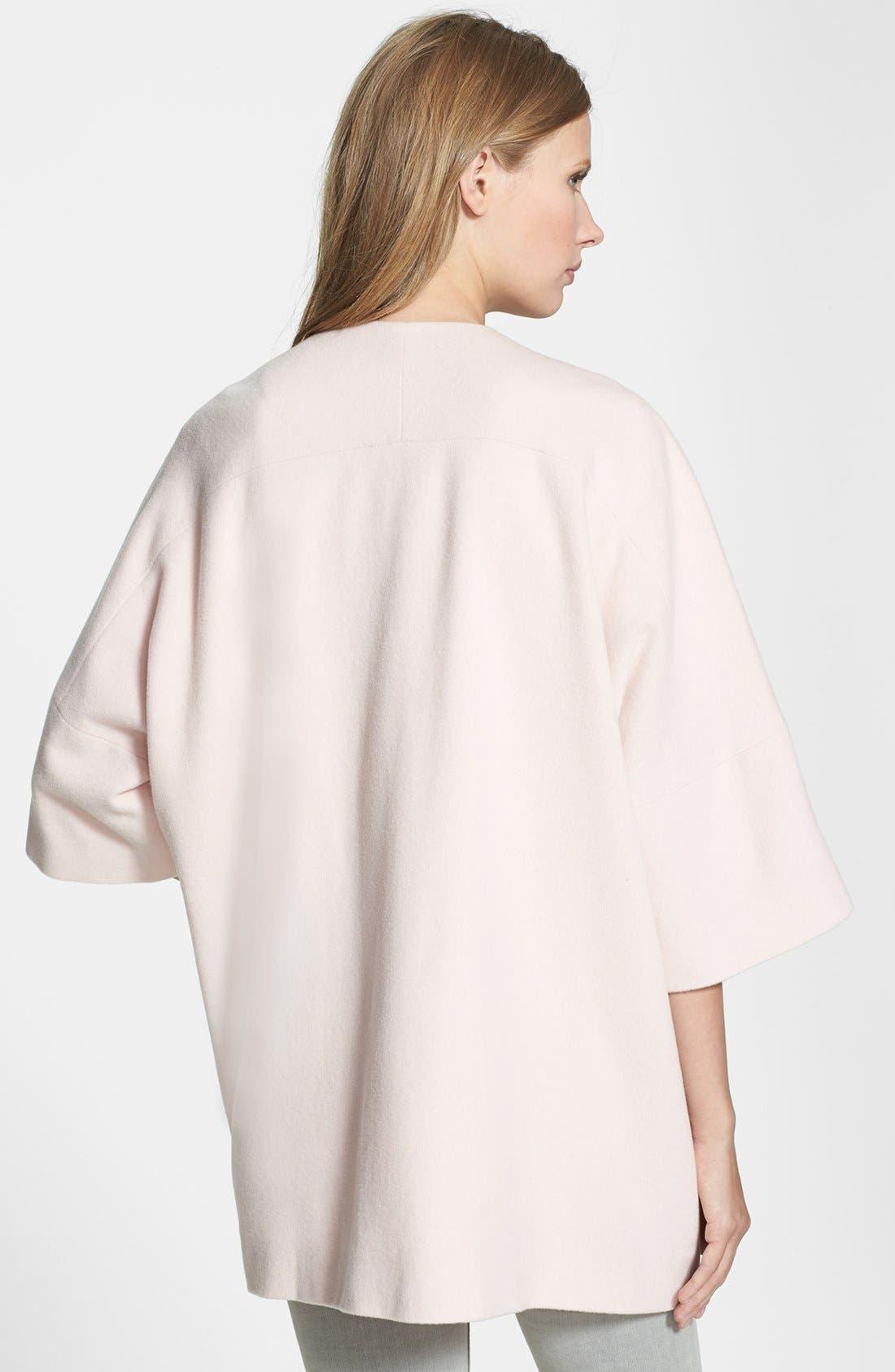 Alternate Image 2  - Helene Berman Collarless Wool Blend Coat