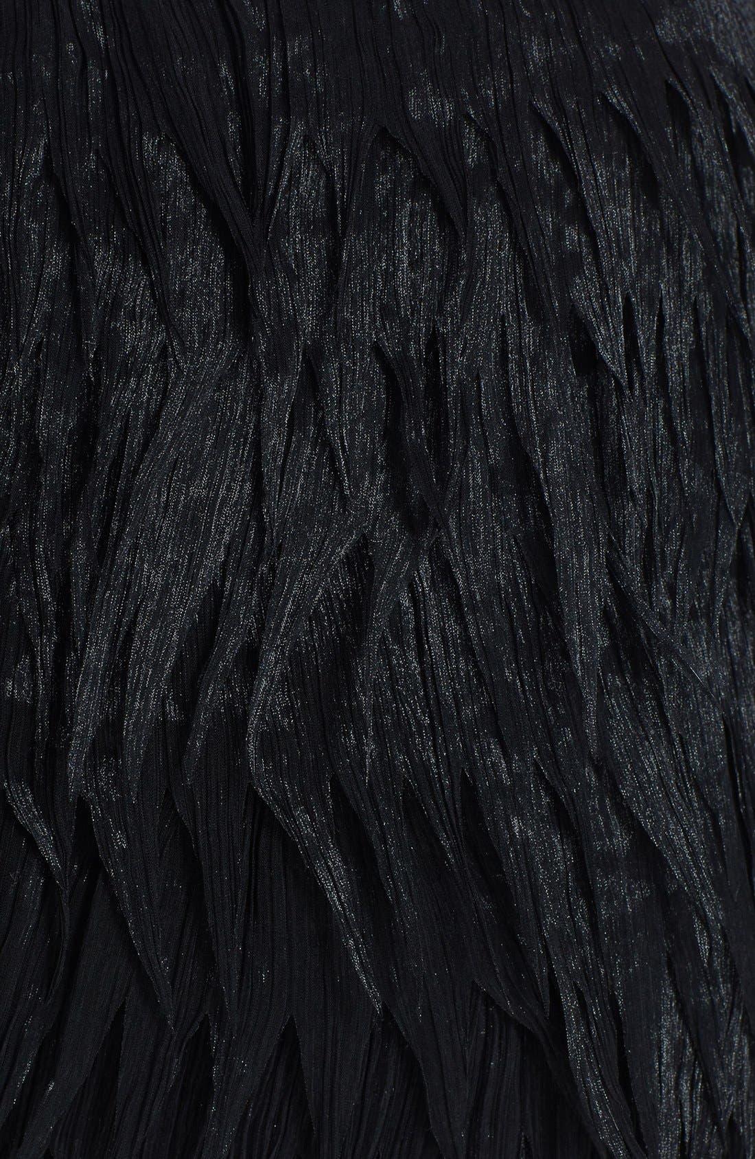 Alternate Image 3  - Press Faux Feather Miniskirt