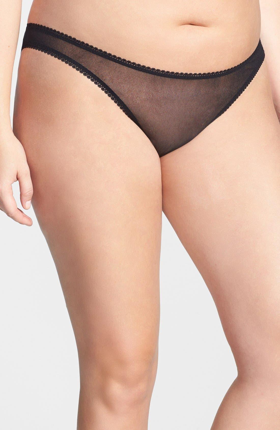 Alternate Image 1 Selected - On Gossamer 'Hip' Bikini (Plus Size) (3 for $45)