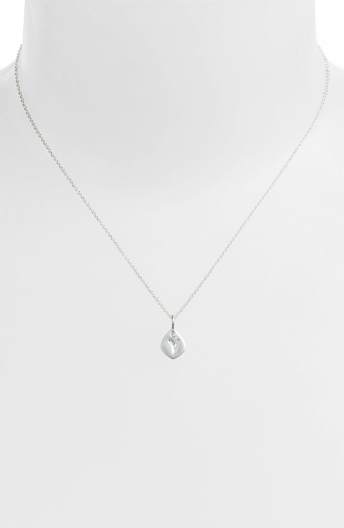 Main Image - NuNu Designs Small Initial Pendant Necklace