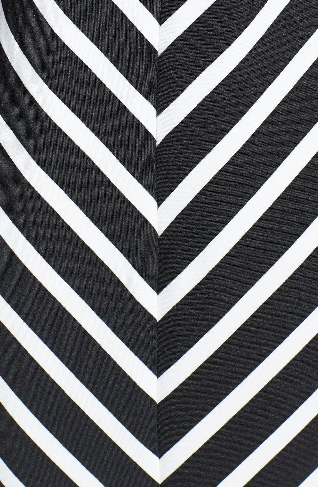 Alternate Image 4  - Gabby Skye Belted Burnout Organza Fit & Flare Dress
