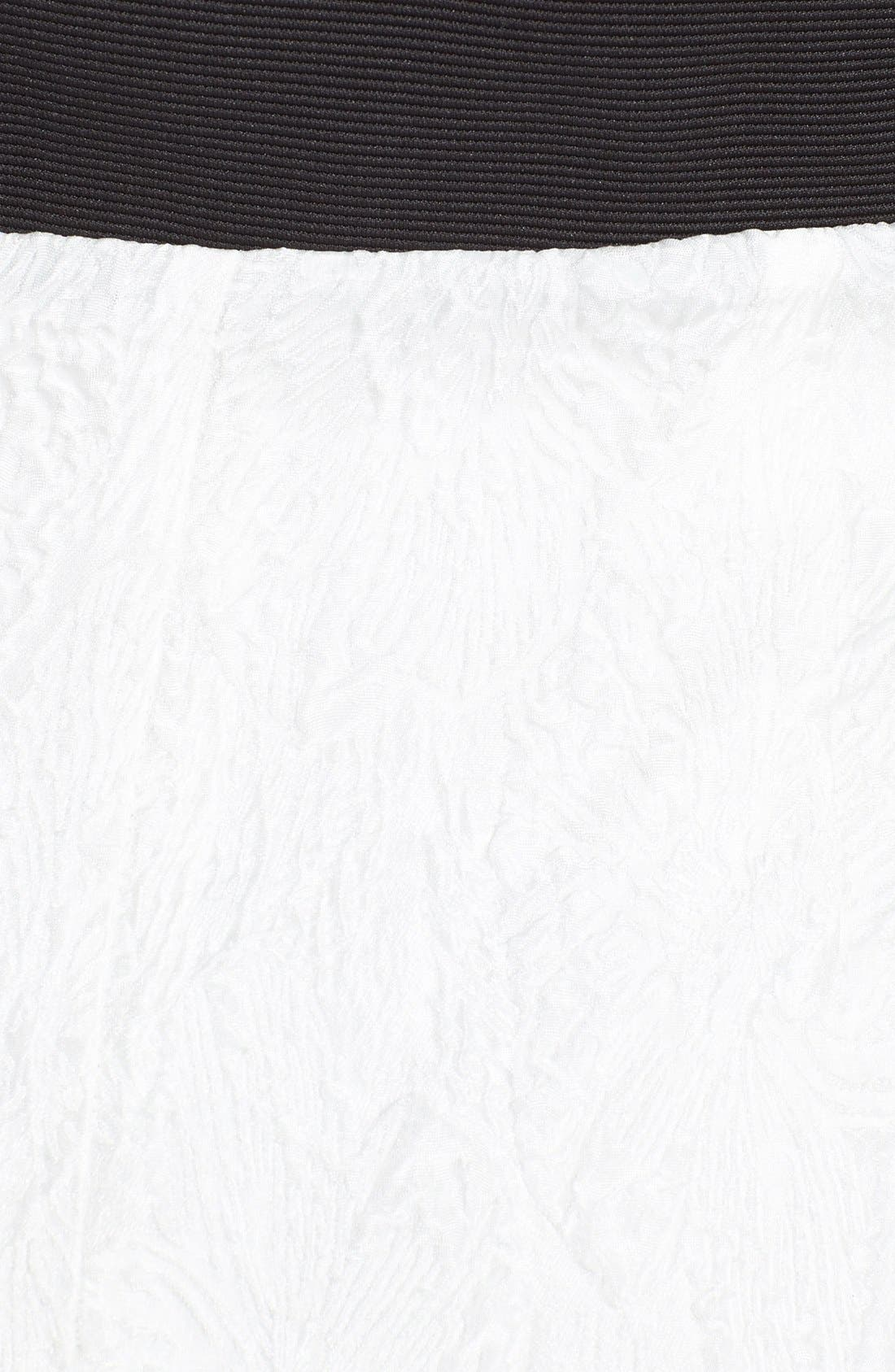 Alternate Image 3  - Vera Wang One-Shoulder Ruffled Jacquard Sheath Dress